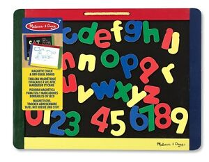 Melissa-and-Doug-10145-Magnetic-Blackboard-Dry-Wipe-Board-with-Pens-Set-New