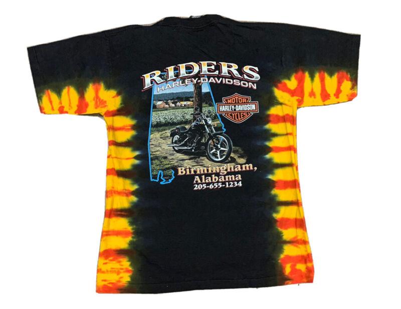 Harley Davidson Men's Birmingham Alabama Tye Dye T Shirt Size Medium