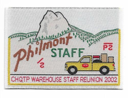 PHILMONT SCOUT RANCH * PHILMONT STAFF * CHQTP WAREHOUSE STAFF REUNION 2002