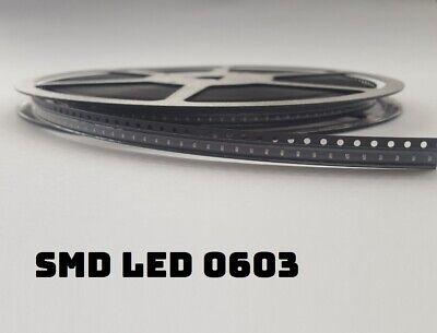 100x 0603 SMD LED rot, grün, gelb, orange, weiß, blau 7-Farben-MIX + SciFi Mix