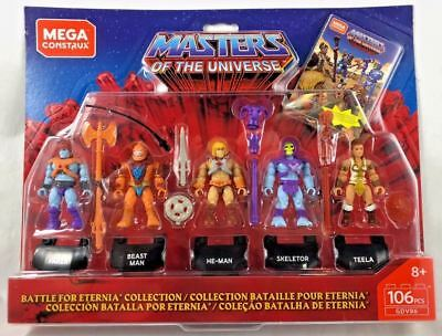 Auspacker# Mega Construx Masters Of The Universe 5 Pack Battle for Eternia Set