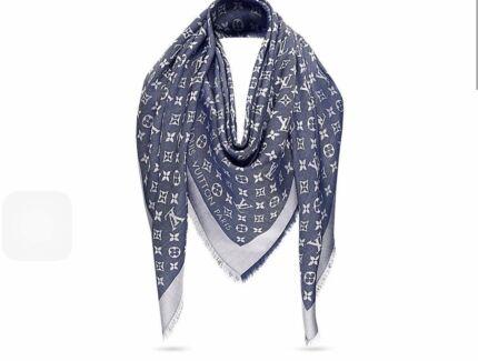 Louis Vuitton Denim Coloured Shawl Scarf