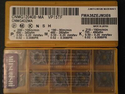 Mitsubishi Cnmg432ma Cnmg120408-ma Vp15tf Carbide Inserts 10 Pcs
