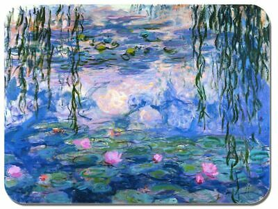 Monet Art Mouse Pad (Claude Monet Water Lilies Mouse Mat. High Quality Art Print Mouse Pad )