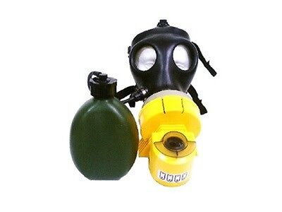 Israeli Youth Gas Mask With Air Unit Nato Filter And Hydration Canteen