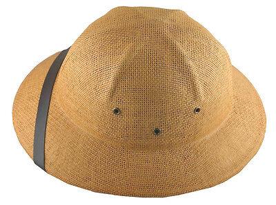 K Sommer 100% Stroh Tropen- Helm Postbote Hut Hellbraun