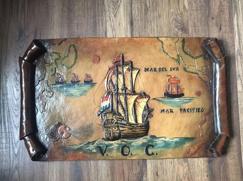 Antique VOC Ship Wall Art