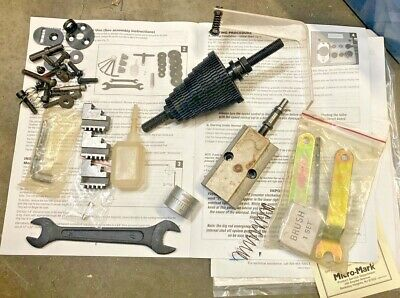 Micro-mark Micro-lux 7x16 Mini Metal Lathe Tool Lot Change Gears Chuck Jaws Etc