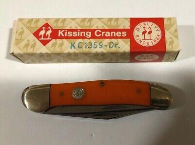 NEW VINTAGE KISSING CRANE ORANGE COPPERHEAD KNIFE SOLINGEN GERMANY KC1359 NIB