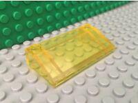 4x LEGO Trans-Yellow Brick 1 x 4 Classic Space 487 493 928 493 6985 #3066