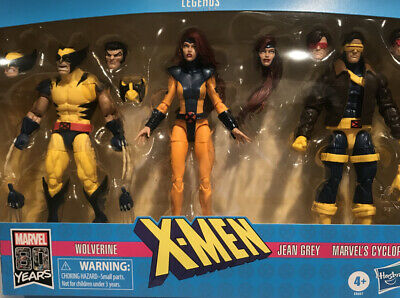 Marvel Legends X-Men Jean Grey, Cyclops, & Wolverine 6-Inch Action Figure 3-Pack