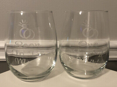 engagement gift for couples wine mimosa glasses lucky mr groom soon to be mrs