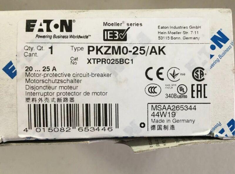 Eaton/Moeller.  PKZM0-25/AK Motor Protective Circuit Breaker L
