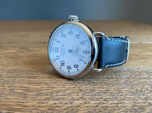 Shinola Runwell 47mm White Dial Black Horween Leather Band First production year