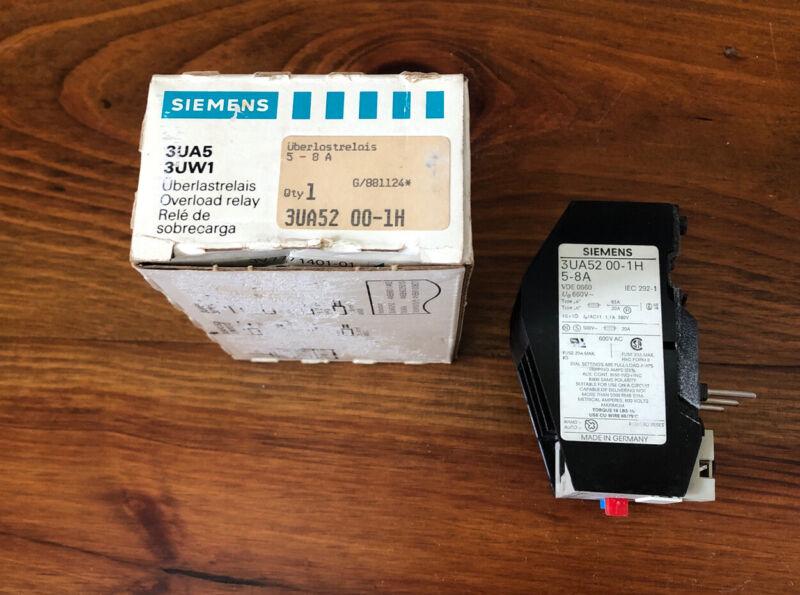 Siemens 3UA52 00-1H Overload Relay