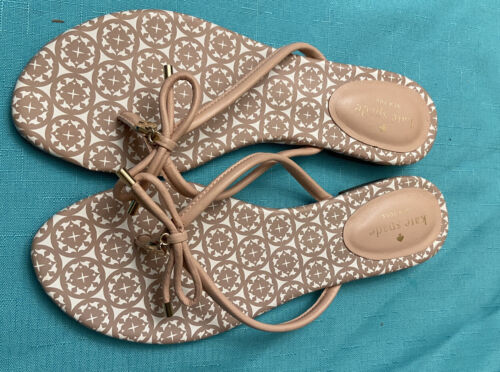 Kate Spade Sandals Flip Flops 9.5M Boho Retro Dress ECU - $13.20