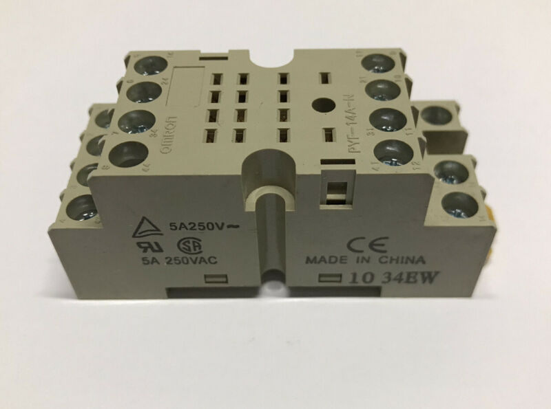 Omron PYF14A-N Front Mount DIN Rail 14 Pin Relay Socket Base PYF-14A-N