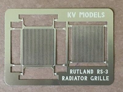 ETCHED RS-3 RADIATOR GRILLE RUTLAND STYLE HO SCALE KV MODELS