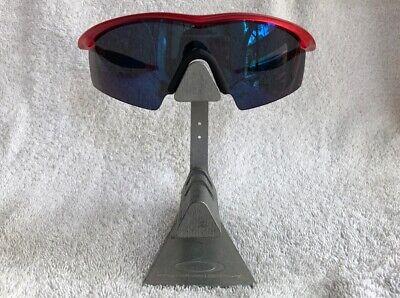 RARE Oakley M Frame Strike Crystal Red Ice Iridium Blue Black Baseball Cycling