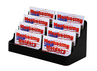 Lot Of 6 Black Eight Pocket Acrylic Business Card Holder Stand Display