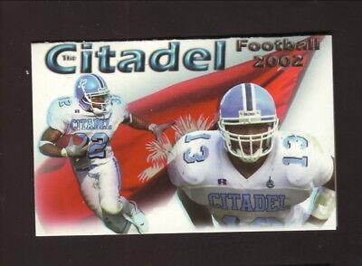 Citadel Bulldogs  2002 Football Pocket Schedule  First Citizens Bank
