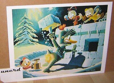 Carl Barks Kunstdruck: A Hot Defense - Donald Duck, Nephews Art Print