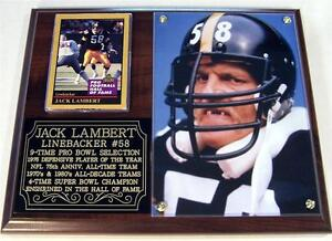 Jack Lambert #58 Pittsburgh Steelers Legend Photo Card Plaque NFL SB Champions