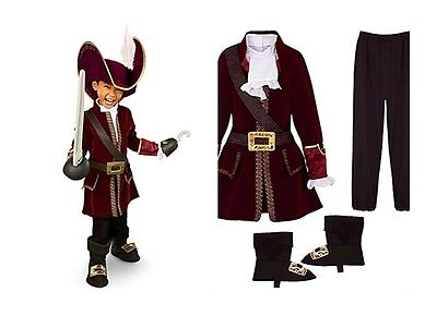Hook Pirate from Peter Pan Costume Suit Toddler Youth Boys (Disney Store Peter Pan Kostüm)