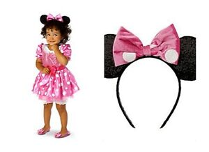 Disney-Store-Minnie-Mouse-Clubhouse-Pink-Dress-Costume-Halloween-NEW-sizes