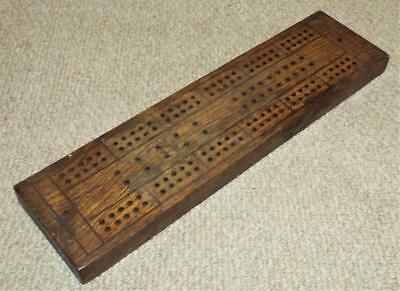 Antique Vintage Wooden Cribbage Board