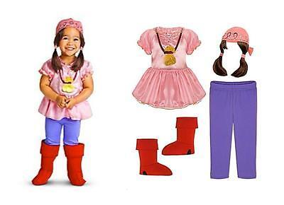 Disney Store IZZY Costume Set Jake in the Never Land Pirate Halloween Girl - Land Girl Costume