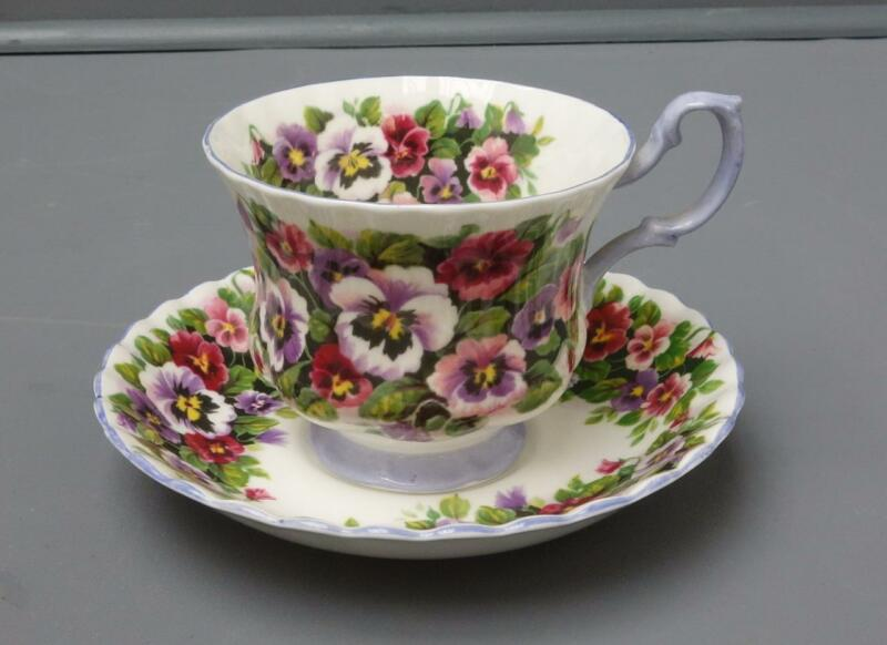 Royal Albert Fragrance Series Viola Violet Flower Bone China Teacup & Saucer