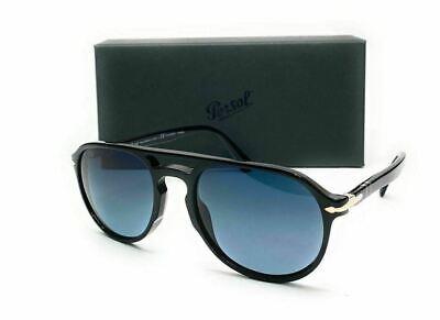 PERSOL PO3235S 95 S3 Black Grey Grad Polarized Men's Sunglasses 55 mm