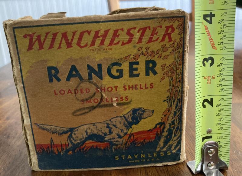Vintage Winchester Ranger Shot Shell Box Staynless 12 ga. empty.
