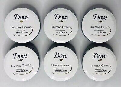 Dove Beauty Body Lotion (Dove Intensive Cream Nourishing Care Beauty Lotion Hand Body Lot of 6 2.53 oz )