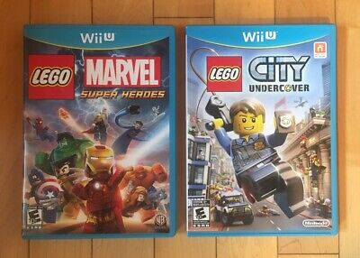 LEGO City Undercover & LEGO Marvel Super Heroes Nintendo Wii U  New