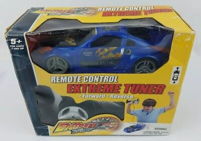Extreme Tuner Remote Control Race Car Blue - Ages 5+ RC Thunder Racing (Extreme Car Race)