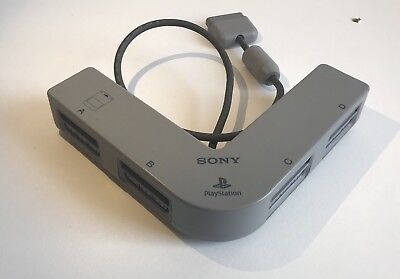 GENUINE SONY PLAYSTATION 1 PS1 MULTI TAP /CONTROLLER & MEMORY CARD 4-WAY ADAPTER