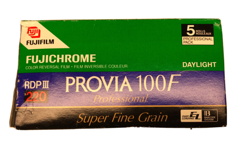 2 Rolls Fuji Provia RDPIII 100F 220MM Color Slide Film