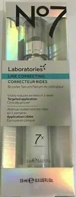 No7 Laboratories Line Correcting Booster Serum 15 ml/0.5 oz Boots No 7