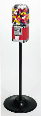 Barrel Bulk Vending Machine Single Stand - Red With Gumball Wheel