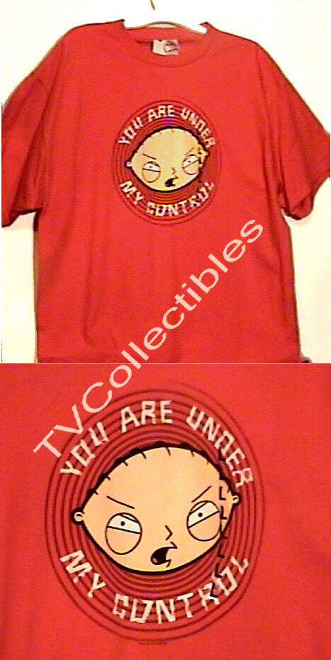 Family Guy Official T-shirt Stewie Under My Control Red 2006 L