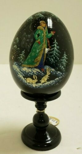 G. DeBrekht Russian Egg on Pedestal – Russian Girl