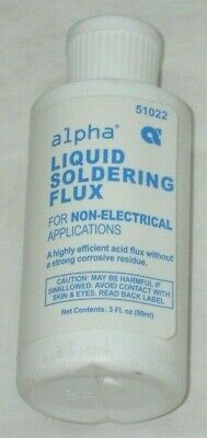 Alpha Fry 51022 Liquid Soldering Flux For Non-electrical Apps 3 Oz Bottle