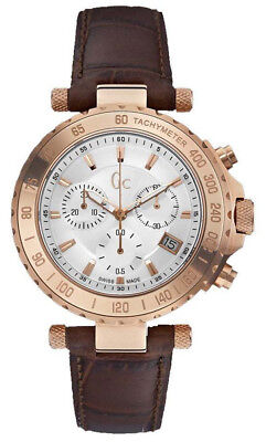 Guess Collection GC Men's Chronograph Rose Gold Leather Band Watch - X58004G1S