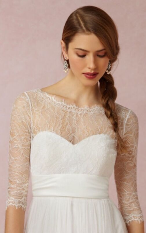 NEW $220 BHLDN Jenny Yoo Collection Marnie Wedding Topper Lace Top XS S M L XL