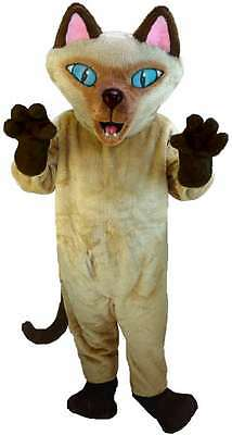 Siamese Cat Professional Quality Lightweight Mascot Costume Adult Size