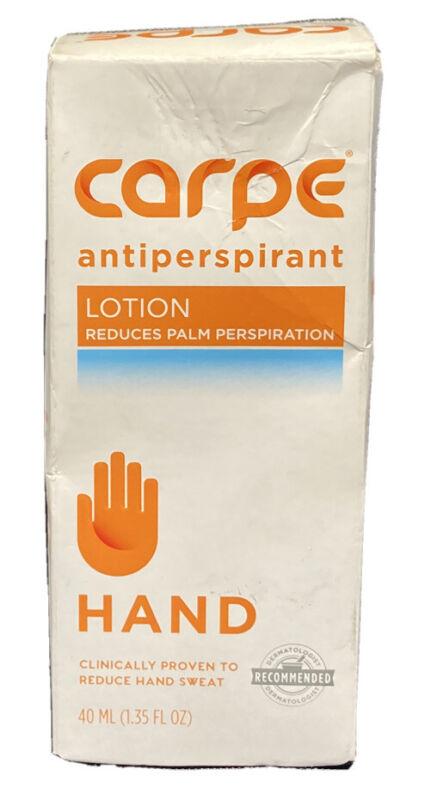 Carpe Hand Antiperspirant Lotion Reduces Palm Perspiration 1.35 Oz