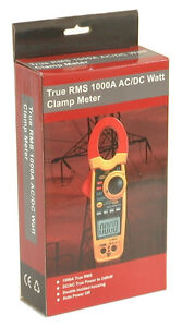 DT-3348 240KW 1K Amp Clamp-on AC/DC Current Voltage Watt Frequency Ohm Meter NEW