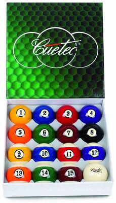 "Cuetec Deluxe 2 1/4"" Ordinary Pool/Billiards Ball Set w/Lifetime Warranty"